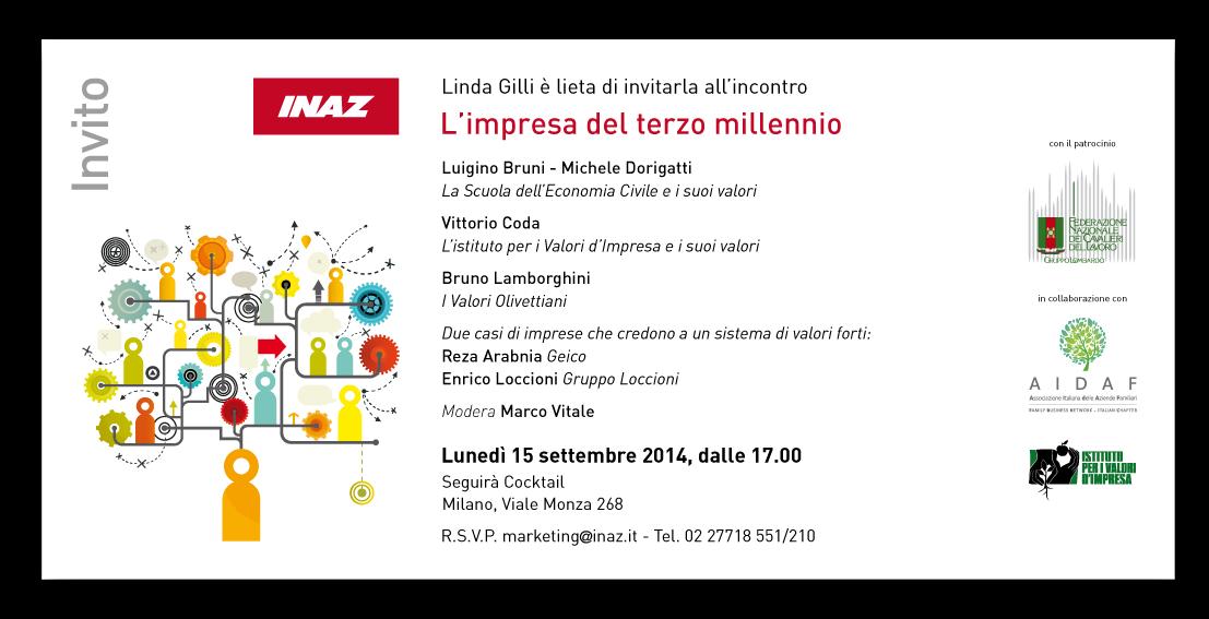 Inaz Invito - L'IMPRESA DEL TERZO MILLENNIO - 15 settembre 2014