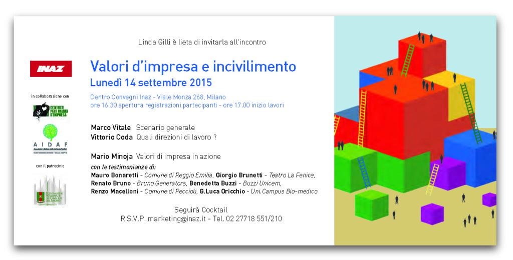 Inaz Invito - VALORI D'IMPRESA E INCIVILIMENTO - 14 settembre 2015